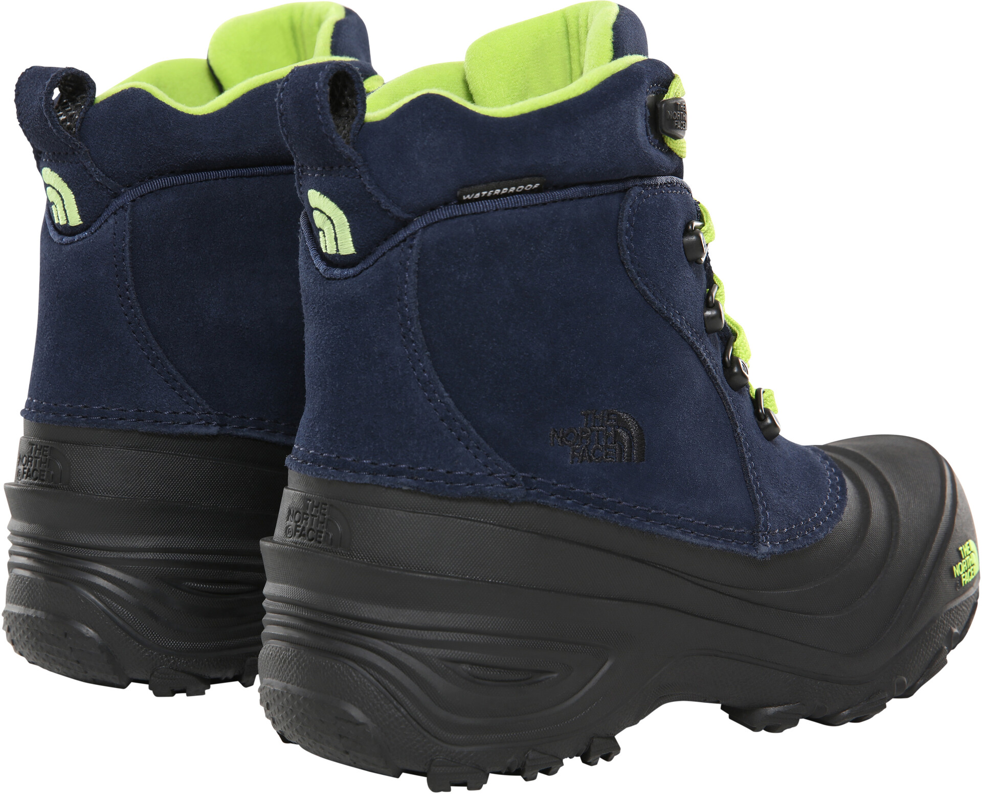 The North Face Chilkat Lace II Boots Kids cosmic bluelime green
